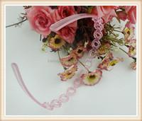 2015 hot sale cheap baby hair band clear plastic headband with teeth bulk for promotion