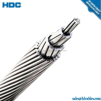 Overhead wire ACSR 50mm2 Robin aac cable 4 mm diameter