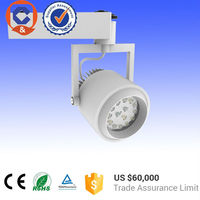 40W 2700K Commercial LED track lights with black body for meat ,vegetable