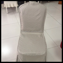 100% polyester jacquard wedding chair cover for hotel/restaurant chair covers
