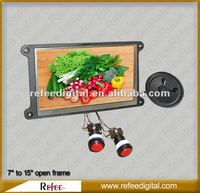 8 to 15 inch New style buttons HD support pos digital advertising