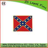 Custom top quality patriot gift CONFEDERATE BATTLE FLAG PIN