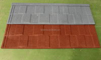 Red color stone coated steel roof tiles building material