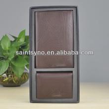 13001 Ticket passport holder leather promotion gift set