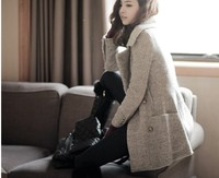 2013 WINTER KOREA FANCY DESIGN LADIES LONG WOOL COAT