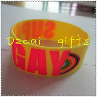 Factory direct sale cheap custom silicone slap bracelet for Personalized design
