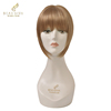 2014 kindy colored synthetic wig factory price distributor in China sexy short full head wavy wig