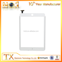 oem non-scratch clear screen digtizer front panel for ipad mini touch screen with home button and ic