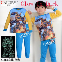 new arrival boys pyjamas,kids 3D glow in the dark underwear,children's pajamas