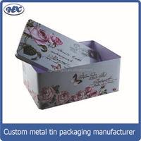Metal nail polish package/packing box for storage makeup tool tin box
