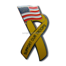 Fashional Business Gifts Aids Awareness Ribbon Lapel Pin Simple And Fashional Design