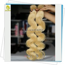 TOP quality blonde virgin hair wefts 3 bundles make a head russian hair extensions