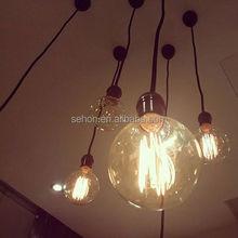 Hanging Antique Filament Edison Light Bulb UL Approved E26 Led Filament Globle Bulbs