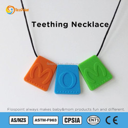 Flospoint Colors Chewable Silicone Teething Necklace/Silicone Teething Necklace