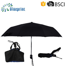 Trendy bag ladies popular automatic three-folding umbrella