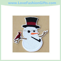 Christmas Birds embroidered iron on patch applique