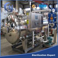 Spray type plastic bottle beverage sterilizing retort machine