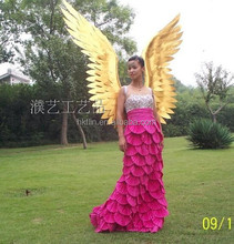 gold angel wings handmade big angel wings model show wings adult angel wings