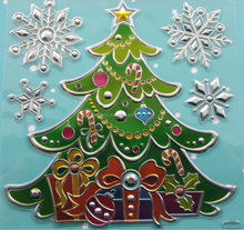 2015 new merry christmas window sticker for holiday decorations