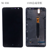For Nokia Lumia 1320 6 inches Black LCD Display Touch Screen Digitizer full assembly with frame