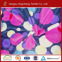 Circle printed fabric coral fleece fabric environment-friendly wholesale polyester fabric