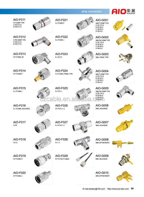 Plug Type Connector Crimp Type Sma Male Plug