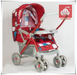 Kangwawa home use red color baby stroller with shock proof function
