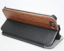 Black + brown + sheepskin, hua limu + carbonization ferula + cherry wood for iphone 6 case wood phone case+for+case+mobile+4+4s+