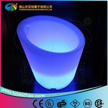 2015 Durable Plastic waterproof led glowing plastic rechargeable led ice bucket with remote control