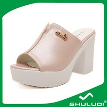 China factory wolesale ladies shoes sex women high heel mules