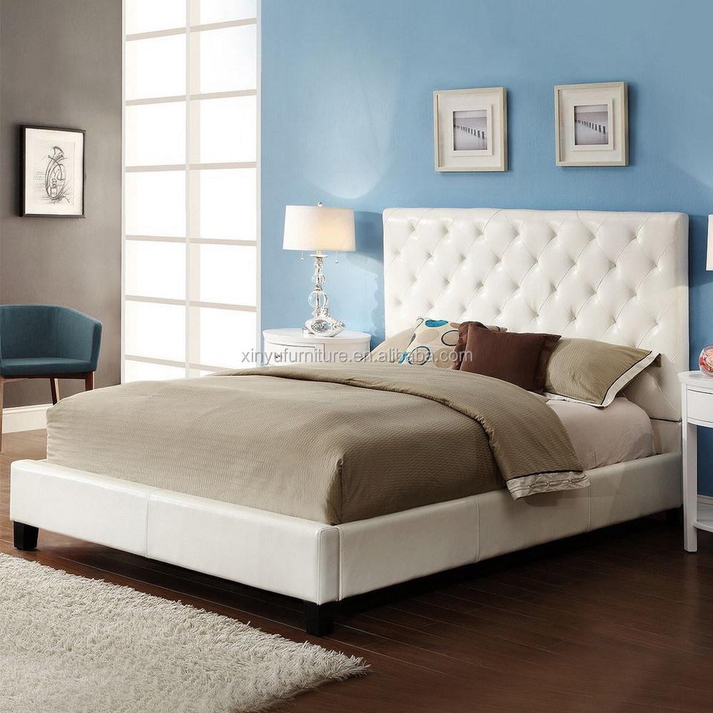 Zwarte stof queen bed frame pu leer bedden slaapkamermeubilair ...