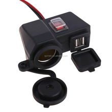 Motorcycle Scooter 12V USB Waterproof Cigarette Lighter Power Port Outlet Socket