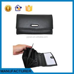 Custom genuine leather mens wallet sheepskin leather purse