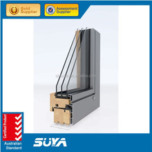 Sliding Type exterior window aluminum wooden sliding window