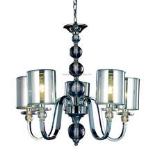 luxury finish sliver pendant lamp for modern building decorative indoor pendant lamp