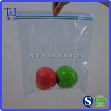 Double zip, double colors zip top seal poly bag