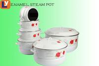 enamel casserole 5pcs 6PCS set cooking pot steamer pot enamelware cookware