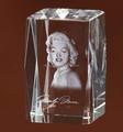 3D láser Marilyn Monroe de la foto cristal cubo MH-F0270