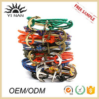 Top Sell jewelry Woven Cord Zinc Alloy Charms Anchor Bracelets