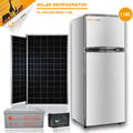 118l sistema de energia solar duplo porta e no peito/congelador tipo de contêiner refrigerado, quente popular solar geladeira& freezer