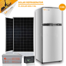 118L solar power system Double door and Chest / Deep Freezer Type refrigerated container ,hot popular Solar Fridge& Freezer
