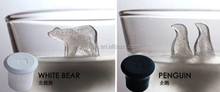 Animal Penguin and Bear Ice Shaped Single Silicone Ice Cube Tray