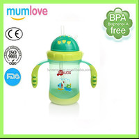 baby sunction cup with double ear, baby water cup, baby water bottle