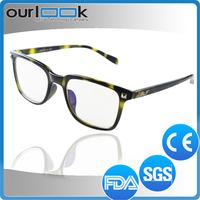 Black Color Anti Blue Ray Lenses Antiskid Available Material Stainless Steel Eyeglasses Frame