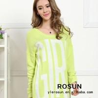 Korean Girls Fashion Sweater Dress With Long Sleeve