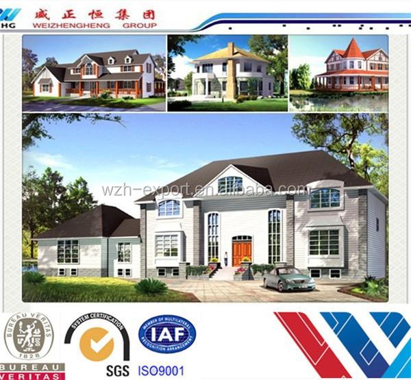 2015 american style villa design light steel villa for American villa design