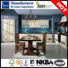 SK222 china kitchen cabinet supplier side wall antique design for Australia project