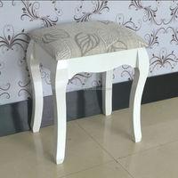 Elegant chair wooden stool single seater foot stool