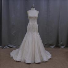 modern western ivory embroidery 2011 new model wedding dress