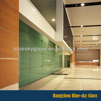 4mm 6mm 8mm 10mm clear interior tempered glass wall panels